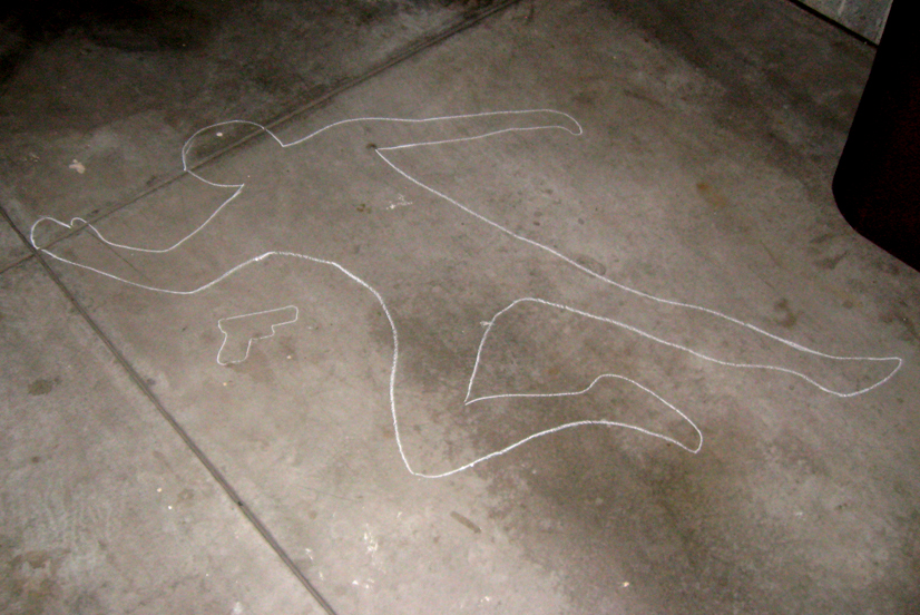 chalk body outline